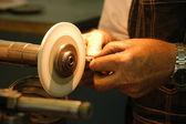 Machine workshop adjusting — Stock Photo