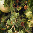 Decorations on a christmas fur-tree — Lizenzfreies Foto