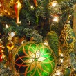 Decorations on a christmas fur-tree — Foto de Stock