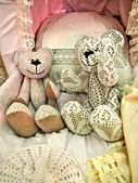 Handmade teddy bears — Foto Stock