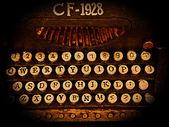 Old-fashioned typewriter — Stock Photo
