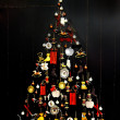 Stylized vintage design Christmas tree — Stok fotoğraf
