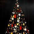 Stylized vintage design Christmas tree — Stock Photo