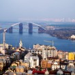 View on Podil district from St Andrew's Church — Stock Photo #36982499