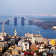 View on Podil district from St Andrew's Church — Stock Photo