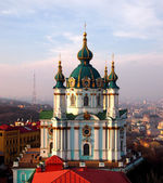 St. Andrew's church in Kyiv — 图库照片