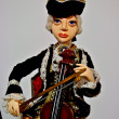 Collectible doll playing on violin — Stock Photo #37433761