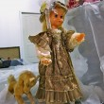 "Dolls and toy horse on exhibition ""Kiev TeddiLend — Stock Photo"