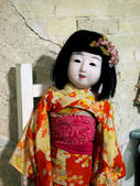 "Japanese doll on exhibition ""Kiev TeddiLend — Stock Photo"