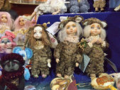 "Dolls and toys on exhibition ""Kiev TeddiLend"" — Stock Photo"