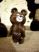 Olympic bear statuette — Stock Photo