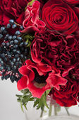 Bouquet from anemone, rose and clove — Stock Photo