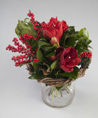 Winter red bouquet — Stock Photo
