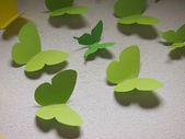 Decorative green butterflies — Stock Photo