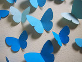 Paper blue butterflies — Stockfoto