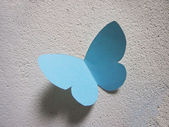 Paper blue butterfly — Stockfoto