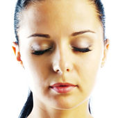Beautiful face with  closed eyes — Stock Photo