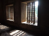 Windows in  Angkor Wat in Siem Reap, Cambodia. — Foto de Stock