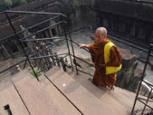 Buddhist in Angkor Wat  temple complex — Stock Photo