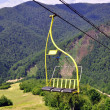 Chair lift in the Carpathians — Stock Photo