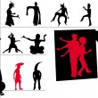 Aliens silhouettes vector — Stock Photo #1281836