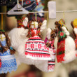 Ukrainian traditional handmade dolls — Stock Photo