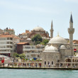 Stock Photo: Istanbul Mosque at the riverside of Bosphorus