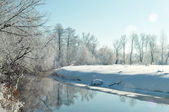 Beautiful view on the winter river — Stock Photo