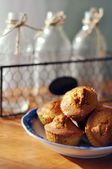 Tasty fresh homemade muffins — Stock Photo