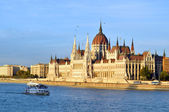 The Hungarian Parliament Building is the seat of the National Assembly of Hungary, one of Europe's oldest legislative buildings — Stock Photo