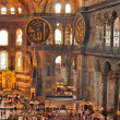 Tourists in the the Hagia Sophia — Stock Photo