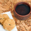 A cup of tea and home made cookies — Stock Photo