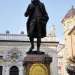 Statue of the young Johann Wolfgang Goethe on the Naschmarkt in Leipzig, Germany — Stock Photo