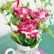 Stock Photo: Beautiful roses in vase