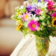 Bouquet of simple flowers on table — Stock Photo #31304187