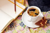 Coffee and writing time — Stock fotografie