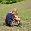 Young boy crying — Stock Photo #1218273