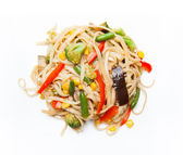 Noodles with vegetables — Stock Photo