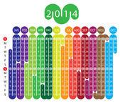 Kalender 2014 — Stockvektor