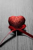 Červené srdce — Stock fotografie