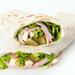 Stuffed pita — Stock Photo