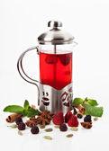 Czajniczek z herbatą — Zdjęcie stockowe