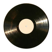 Disco de vinil isolado — Fotografia Stock