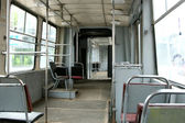 Interior of old tram — Stock Photo