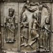 Reliefs on the gate of St. Sophia Cathedral (Novgorod, Kremlin) — Stock Photo #12897728