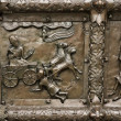 Reliefs on the gate of St. Sophia Cathedral (Novgorod, Kremlin) — Stock Photo