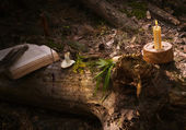 Witch place to prepare potions — Stock Photo
