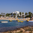 Panoramic view of Beach Makronissos, Agia Napa — Stock Photo #16917377
