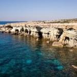 Sea caves near Cape Greko. Cyprus — Stock Photo #16917559