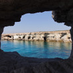 Sea caves near Cape Greko. Cyprus — Stock Photo #16917833